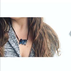 Jewelry - Blue Iridescent Quartz Crystal Necklace